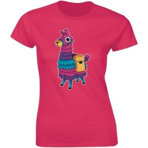 A Cute Fancy Adorable Colourful Llama T-shirt Tee